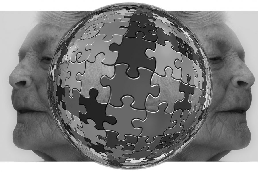 A picture of sphere-shaped puzzle.